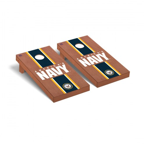 Navy Midshipmen Rosewood Stained Stripe Cornhole Game Set