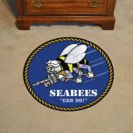 Navy Midshipmen Rounded Mat