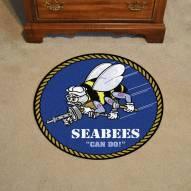 Navy Midshipmen Rounded Mat