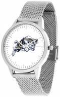 Navy Midshipmen Silver Mesh Statement Watch