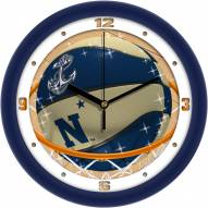 Navy Midshipmen Slam Dunk Wall Clock