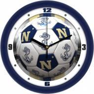 Navy Midshipmen Soccer Wall Clock