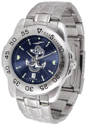 Navy Midshipmen Sport Steel AnoChrome Men's Watch
