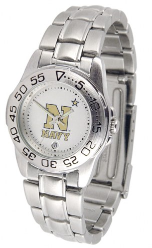 Navy Midshipmen Sport Steel Women's Watch