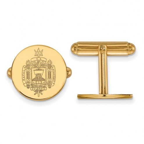 Navy Midshipmen Sterling Silver Gold Plated Cuff Links