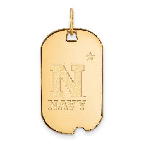 Navy Midshipmen Sterling Silver Gold Plated Small Dog Tag