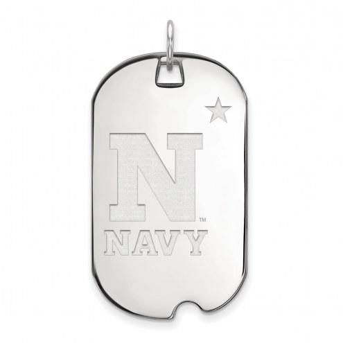 Navy Midshipmen Sterling Silver Large Dog Tag
