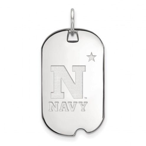 Navy Midshipmen Sterling Silver Small Dog Tag