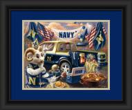 Navy Midshipmen Tailgate Framed Print