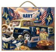 Navy Midshipmen Tailgate Plaque