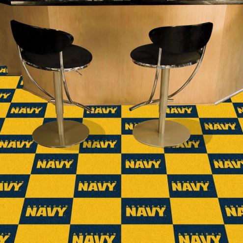 Navy Midshipmen Team Carpet Tiles