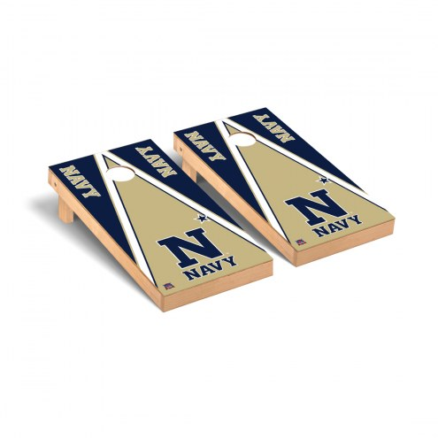 Navy Midshipmen Triangle Cornhole Game Set
