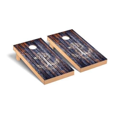 Navy Midshipmen Weathered Cornhole Game Set