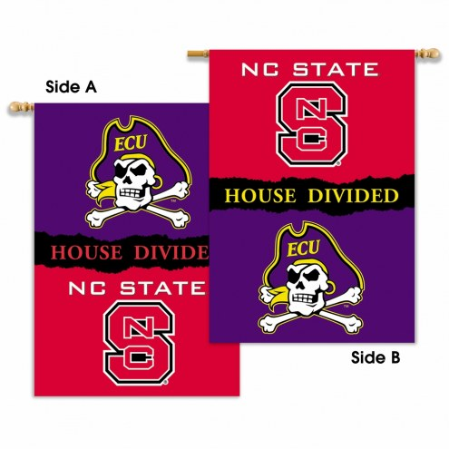 NC State/East Carolina 2-Sided House Divided Banner