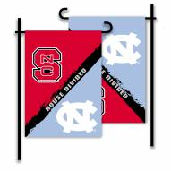 NC State/North Carolina House Divided Garden Flag