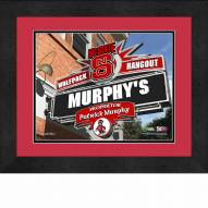 North Carolina State Wolfpack 13 x 16 Personalized Framed Sports Pub Print