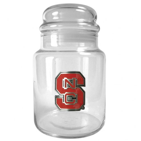 NC State Wolfpack College 31 Oz Glass Candy Jar