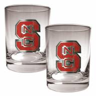NC State Wolfpack College 2-Piece 14 Oz. Rocks Glass Set