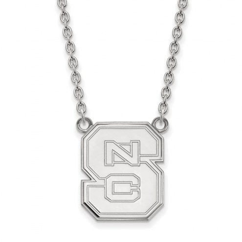 North Carolina State Wolfpack Sterling Silver Large Pendant Necklace