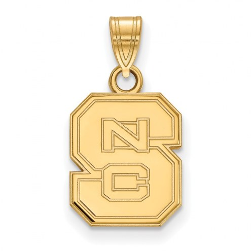 North Carolina State Wolfpack NCAA Sterling Silver Gold Plated Small Pendant