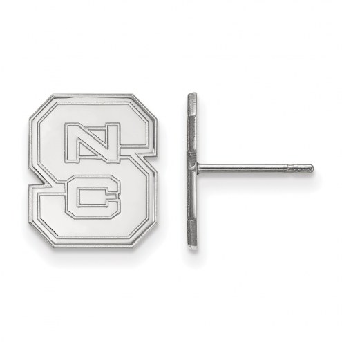 North Carolina State Wolfpack Sterling Silver Small Post Earrings