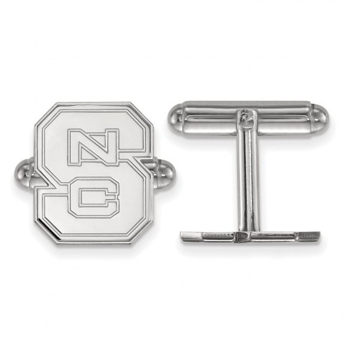 North Carolina State Wolfpack Sterling Silver Cuff Links