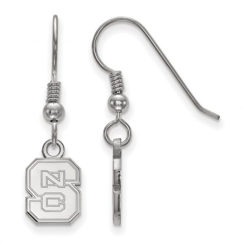 North Carolina State Wolfpack Sterling Silver Extra Small Dangle Earrings