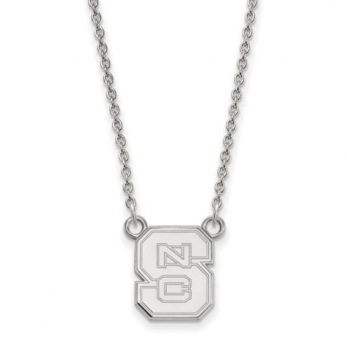 North Carolina State Wolfpack Sterling Silver Small Pendant Necklace