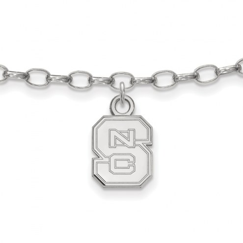 North Carolina State Wolfpack Sterling Silver Anklet