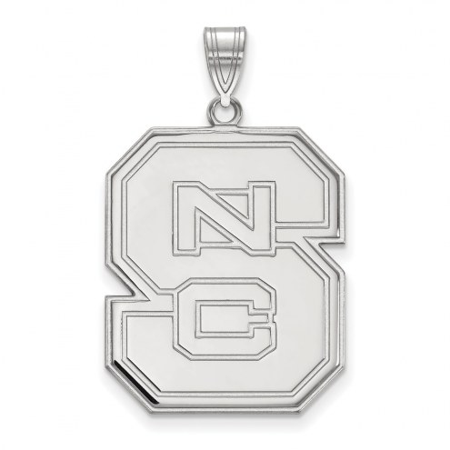 North Carolina State Wolfpack Sterling Silver Extra Large Pendant