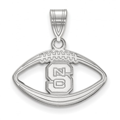 North Carolina State Wolfpack Sterling Silver Football Pendant