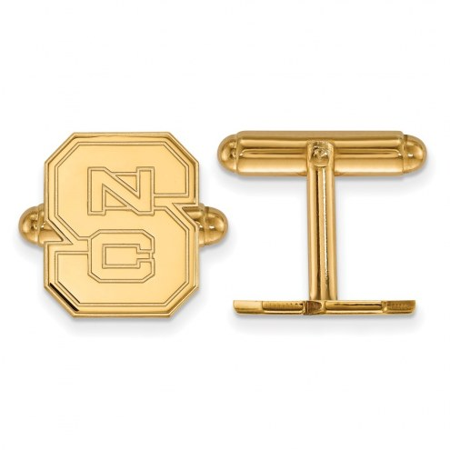 North Carolina State Wolfpack Sterling Silver Gold Plated Cuff Links