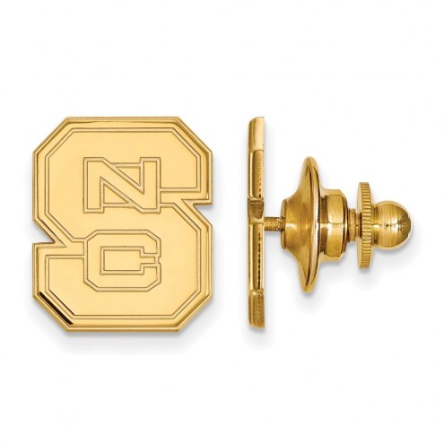 North Carolina State Wolfpack Sterling Silver Gold Plated Lapel Pin