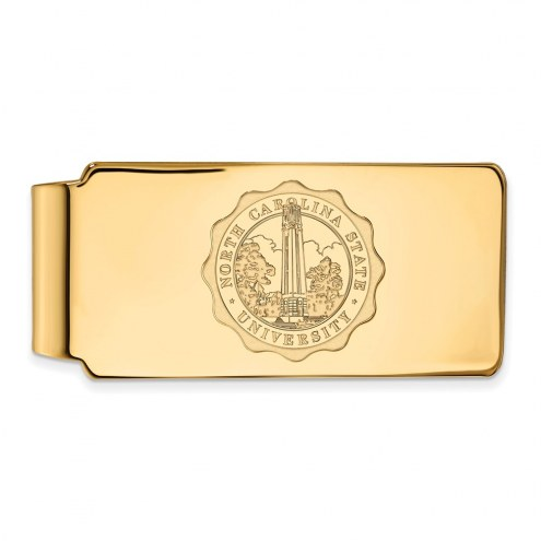 North Carolina State Wolfpack Sterling Silver Gold Plated Money Clip