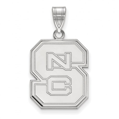 North Carolina State Wolfpack Sterling Silver Large Pendant