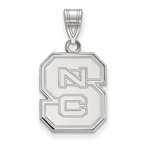 North Carolina State Wolfpack Sterling Silver Medium Pendant