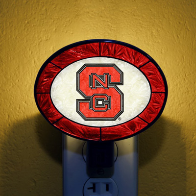 NC State Wolfpack NCAA Stained Glass Night Light
