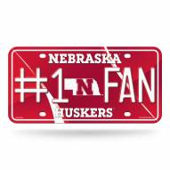 Nebraska Cornhuskers #1 Fan License Plate