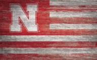 "Nebraska Cornhuskers 11"" x 19"" Distressed Flag Sign"