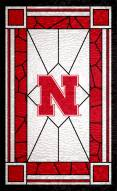 "Nebraska Cornhuskers 11"" x 19"" Stained Glass Sign"