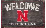 """Nebraska Cornhuskers 11"""" x 19"""" Welcome to Our Home Sign"""