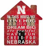 "Nebraska Cornhuskers 12"" House Sign"