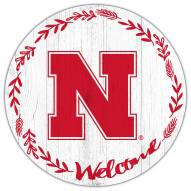 "Nebraska Cornhuskers 12"" Welcome Circle Sign"