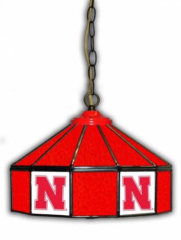 "Nebraska Cornhuskers 14"" Glass Pub Lamp"