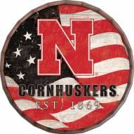 """Nebraska Cornhuskers 16"""" Flag Barrel Top"""