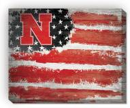 "Nebraska Cornhuskers 16"" x 20"" Flag Canvas Print"