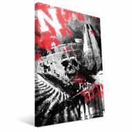 "Nebraska Cornhuskers 16"" x 24"" Spirit Canvas Print"
