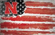 "Nebraska Cornhuskers 17"" x 26"" Flag Sign"