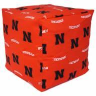 "Nebraska Cornhuskers 18"" x 18"" Cube Cushion"