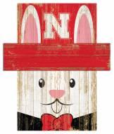 "Nebraska Cornhuskers 19"" x 16"" Easter Bunny Head"